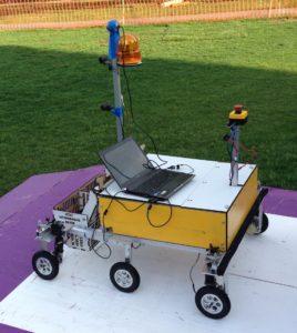 rover on platform